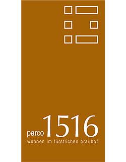 """Logo """"Parco 1516"""" – die Wohnanlage im fürstlichen Brauhof Regensburg"""