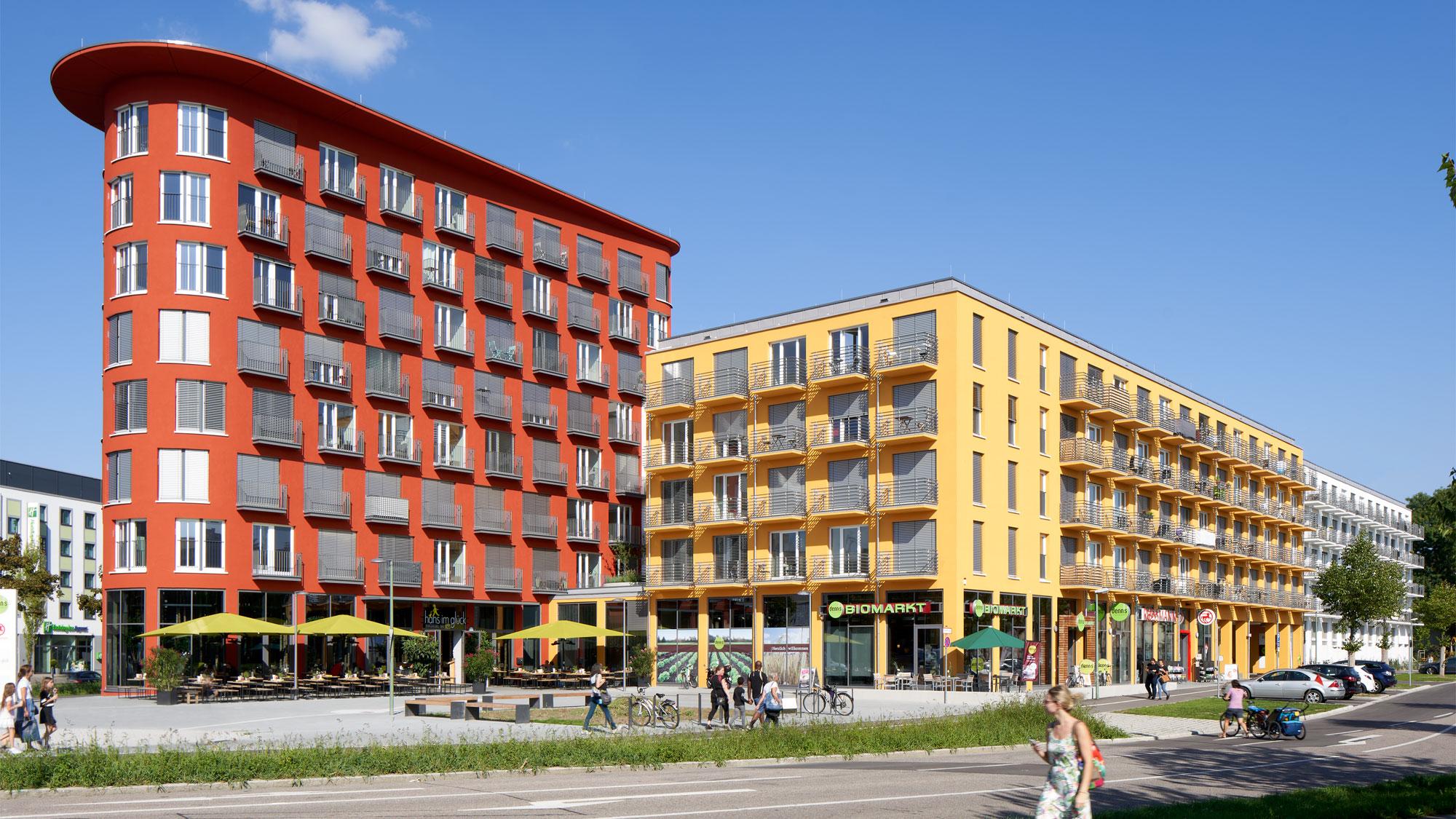 Stadtansicht von Augsburg - geplantes Neubauprojekt studiosus 5 mit modernen Studentenwohnungen